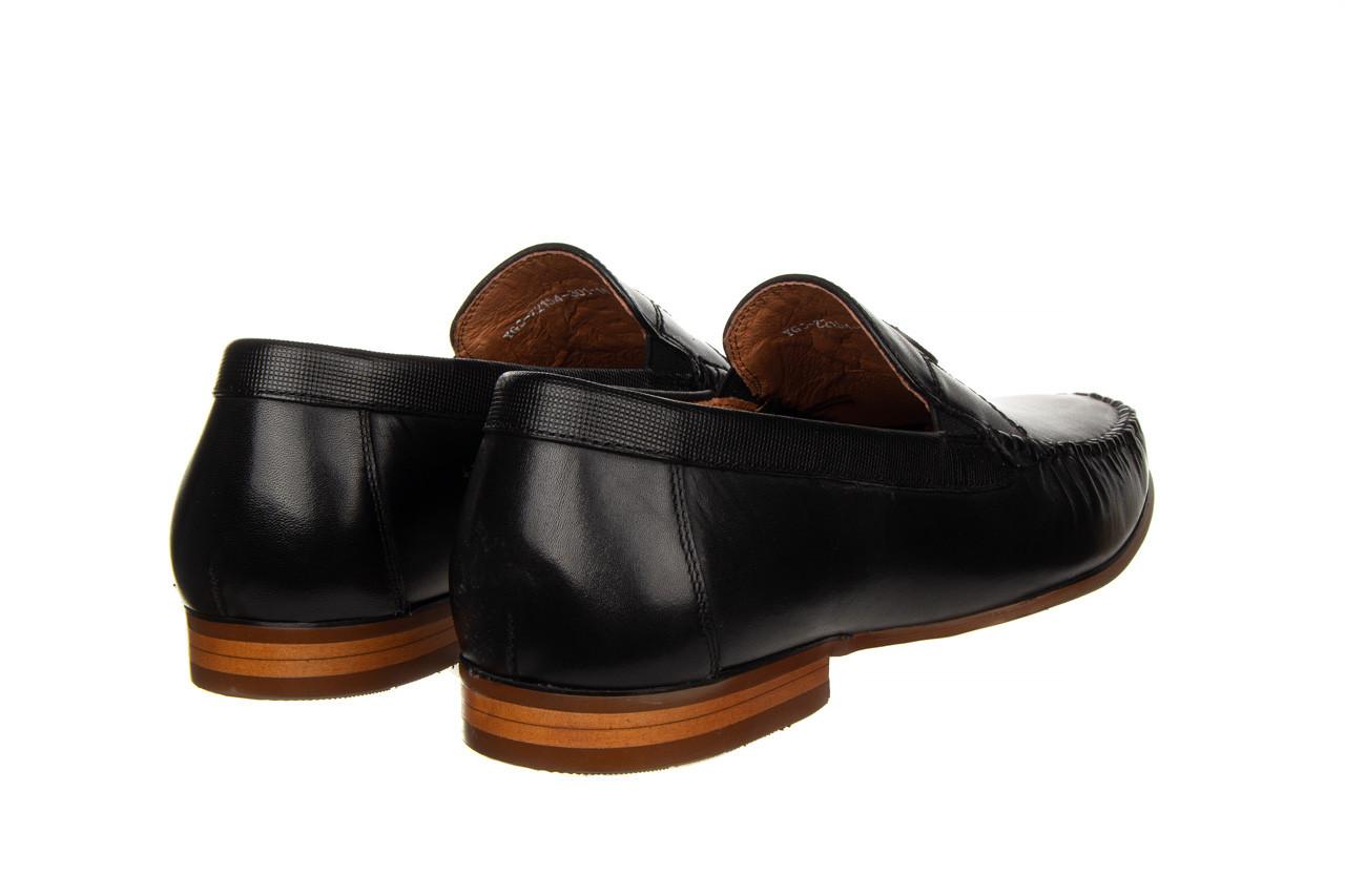 Mokasyny john doubare ygc-z2154-301-10 black 104174, czarny, skóra naturalna  - mokasyny i espadryle - buty męskie - mężczyzna 13