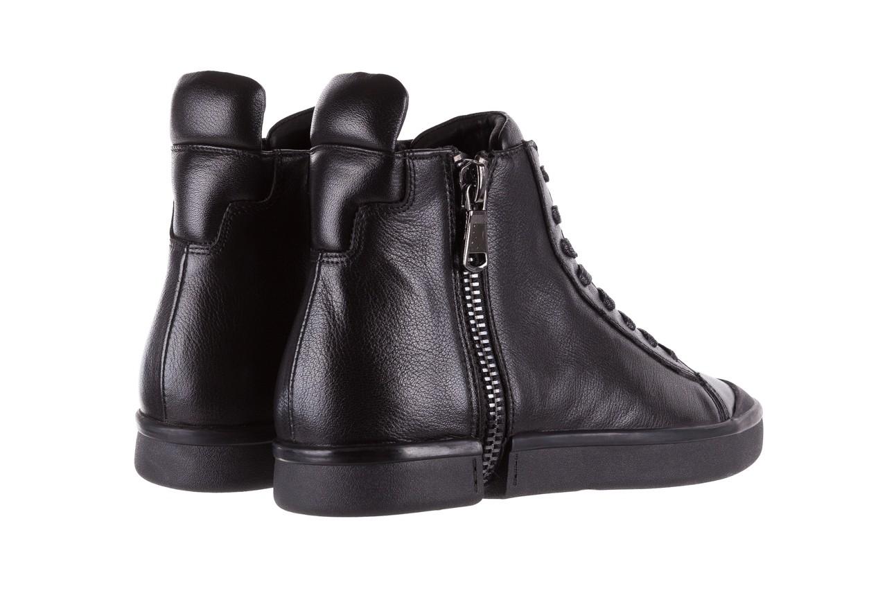 Sneakersy john doubare m5761-1 black, czarny , skóra naturalna  - trendy - mężczyzna 15