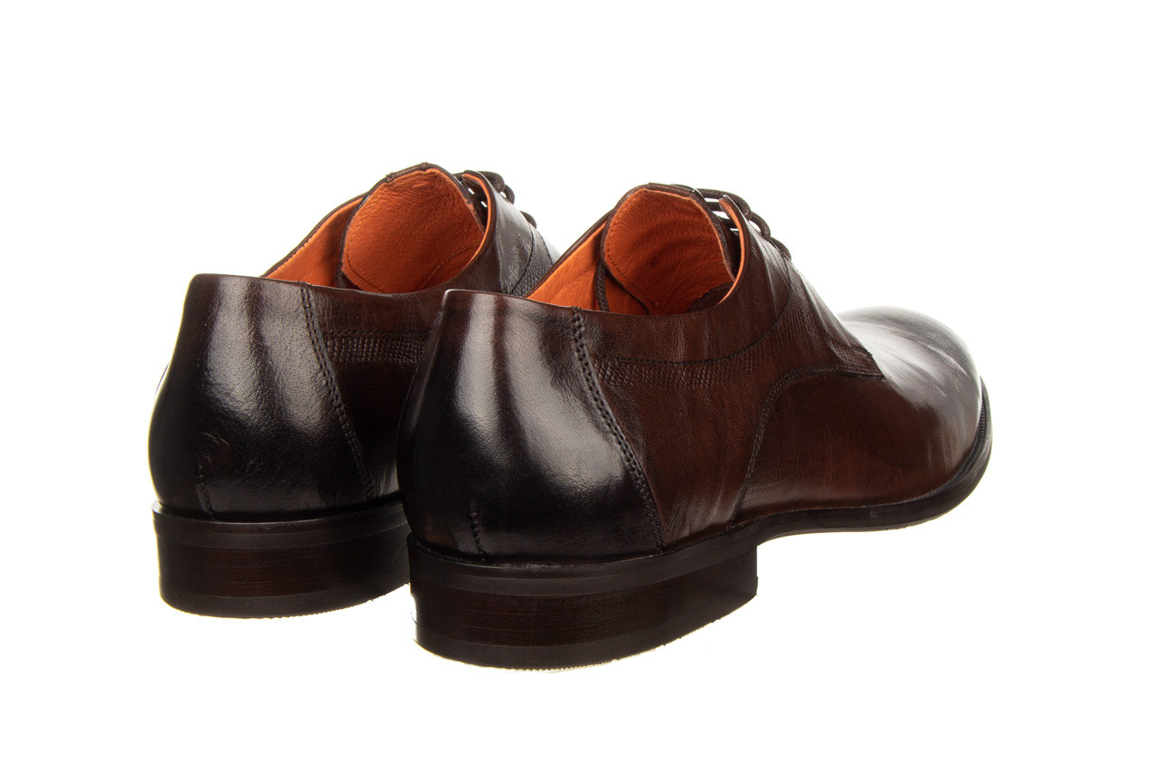 Półbuty john doubare q13e-s45-a77 coffee 104171, brąz, skóra naturalna  - wizytowe - półbuty - buty męskie - mężczyzna 13
