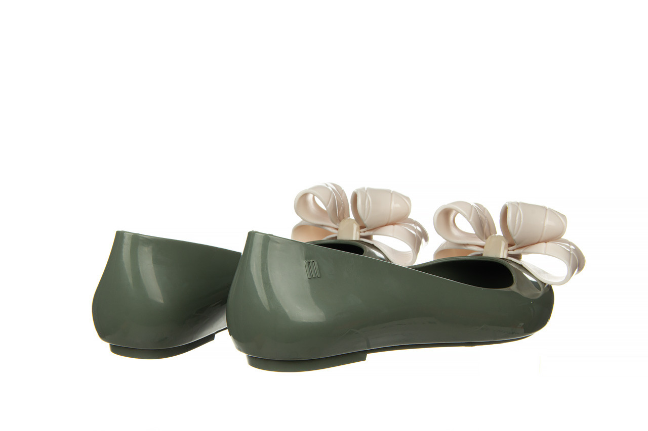 Baleriny melissa sweet love iv ad green beige 010370, zielony, guma 11