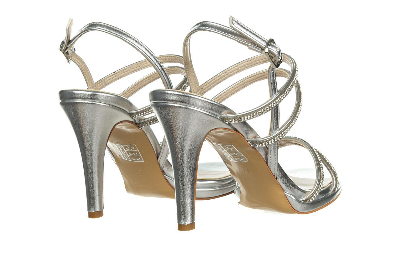 Sandały bayla-187 587-1120 silver 187016, srebro, skóra ekologiczna  - sandały - buty damskie - kobieta 10