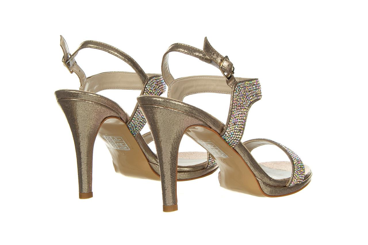 Sandały bayla-187 587-536 gold 187020, złoty, skóra ekologiczna 10