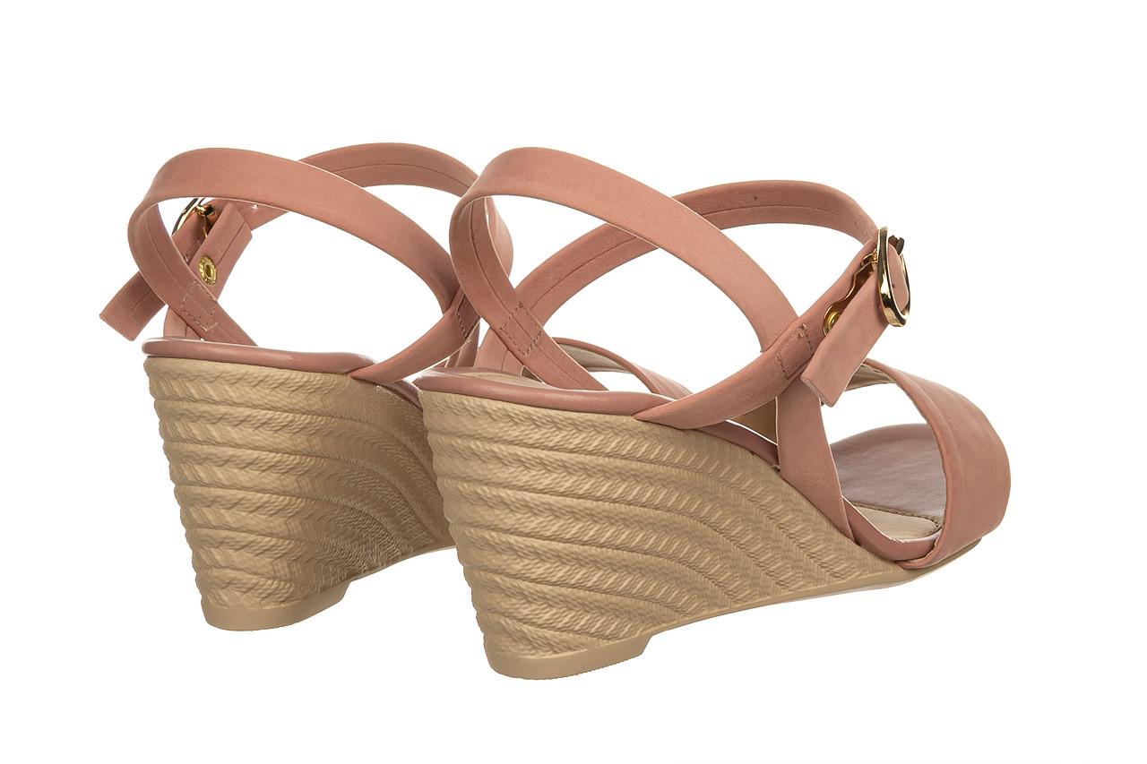 Sandały azaleia 680 242 suede old pink, róż, materiał  - koturny - buty damskie - kobieta 10