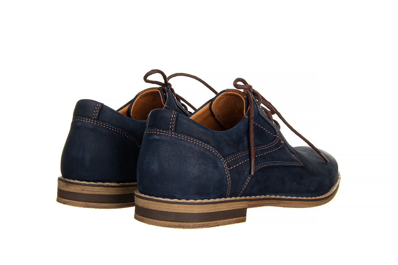 Półbuty bayla-081 831 juma blue ax, granat, skóra naturalna  - wizytowe - półbuty - buty męskie - mężczyzna 11