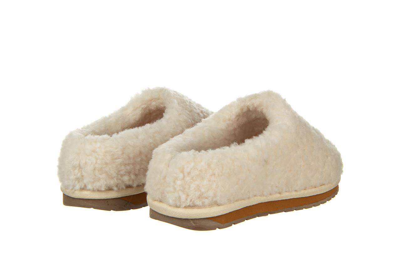 Klapki emu joy teddy natural 119139, beż, futro naturalne  - trendy - kobieta 10