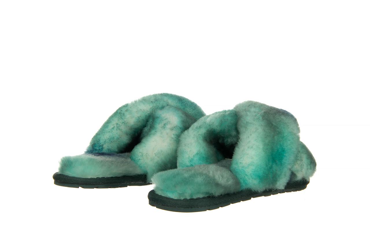 Kapcie emu mayberry tie dye green sea 119138, zielony, futro naturalne  - nowości 10