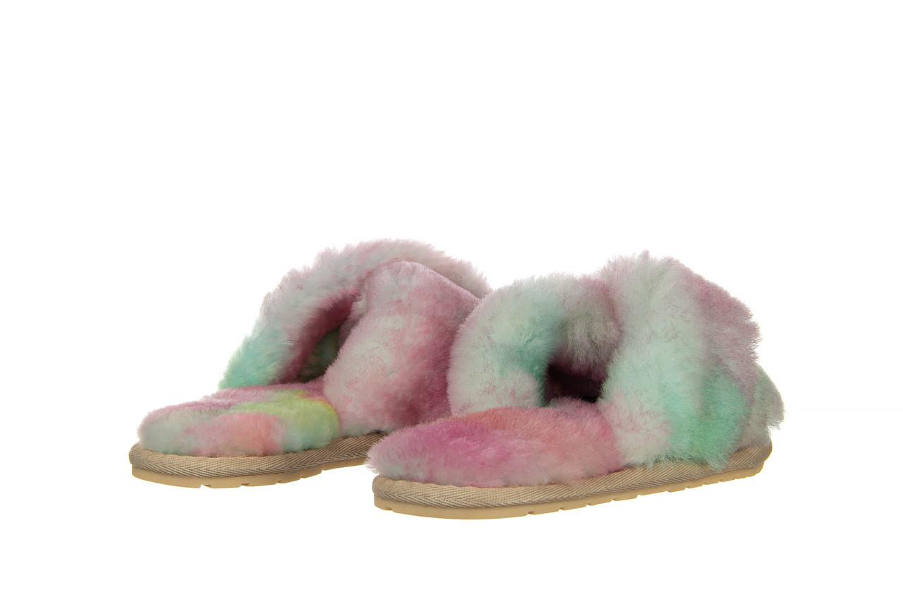 Kapcie emu mayberry tie dye fairly floss 119137, róż, futro naturalne  - nowości 10