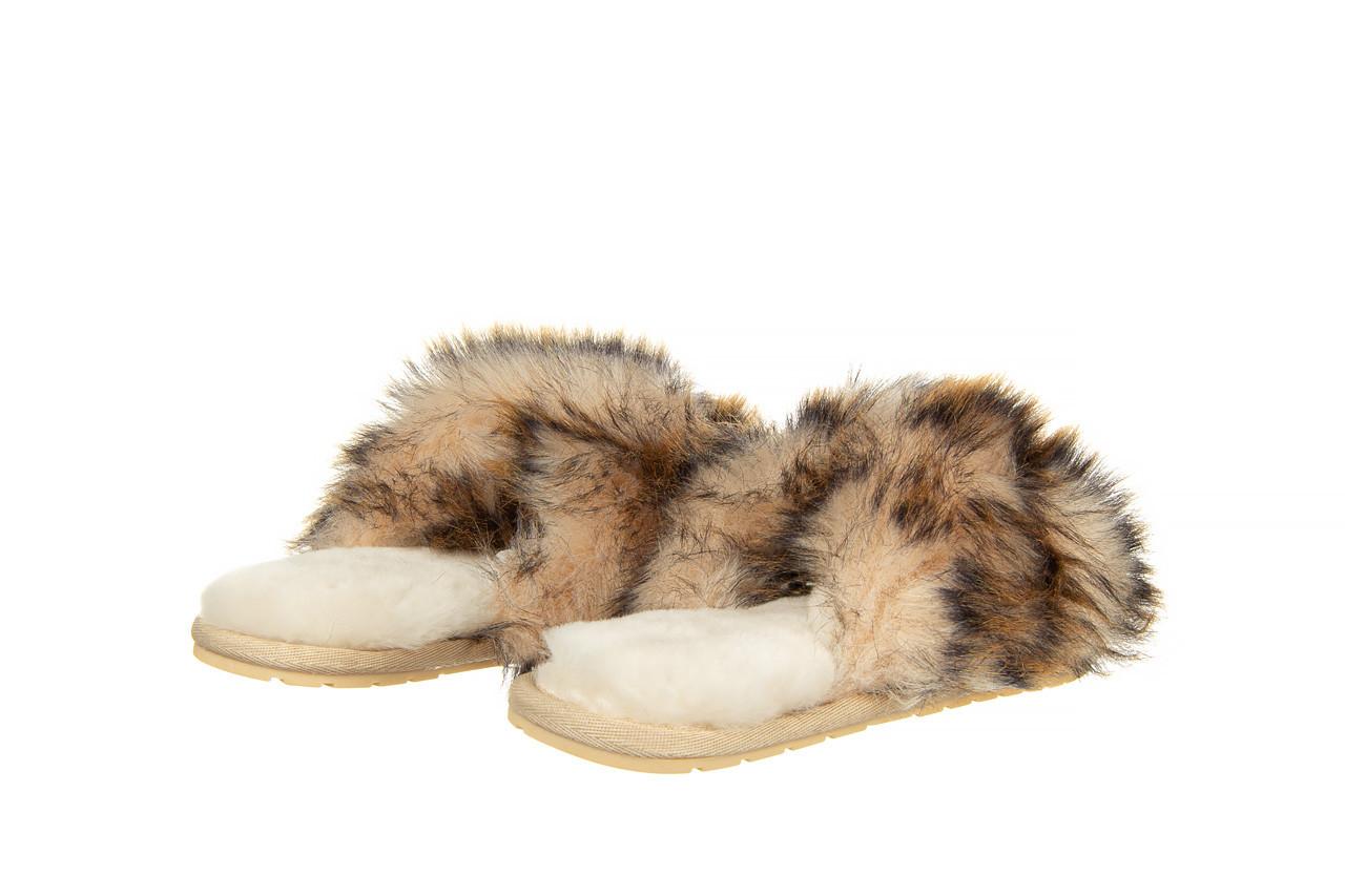 Kapcie emu mayberry lava chestnut 119134, beż, futro naturalne  - trendy - kobieta 10