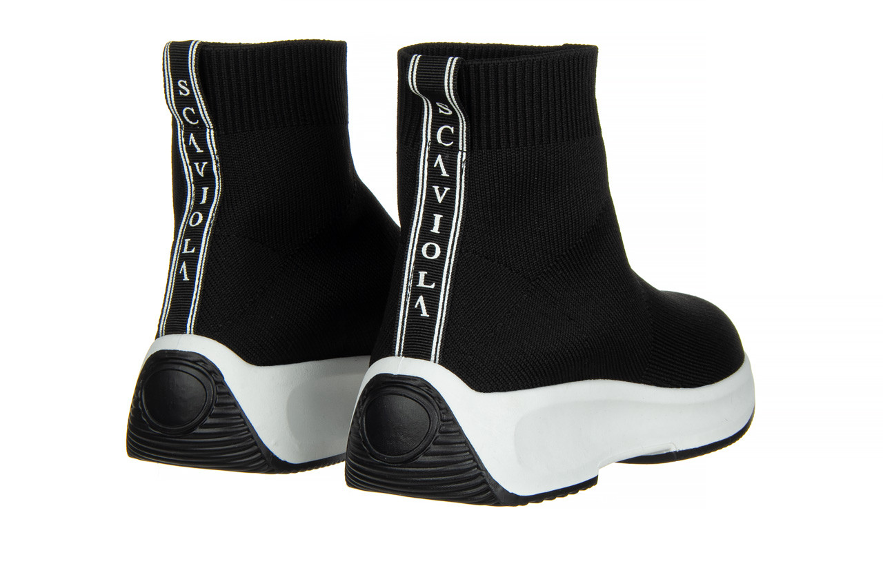 Sneakersy sca'viola l-16 black 047195, czarny, materiał - jesień-zima 2020/2021 11