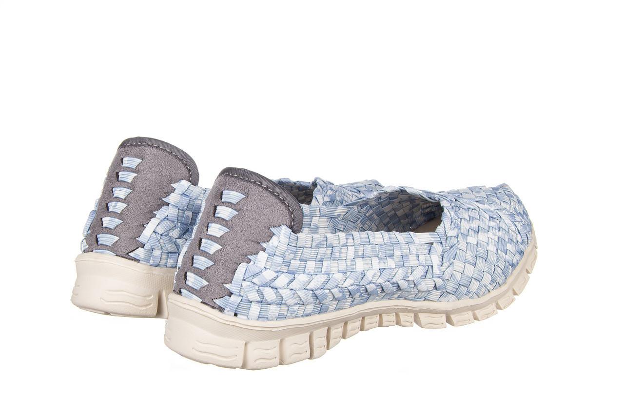 Półbuty rock carioca perena blue smoke 032826, niebieski/ biały, materiał - wsuwane - półbuty - buty damskie - kobieta 11