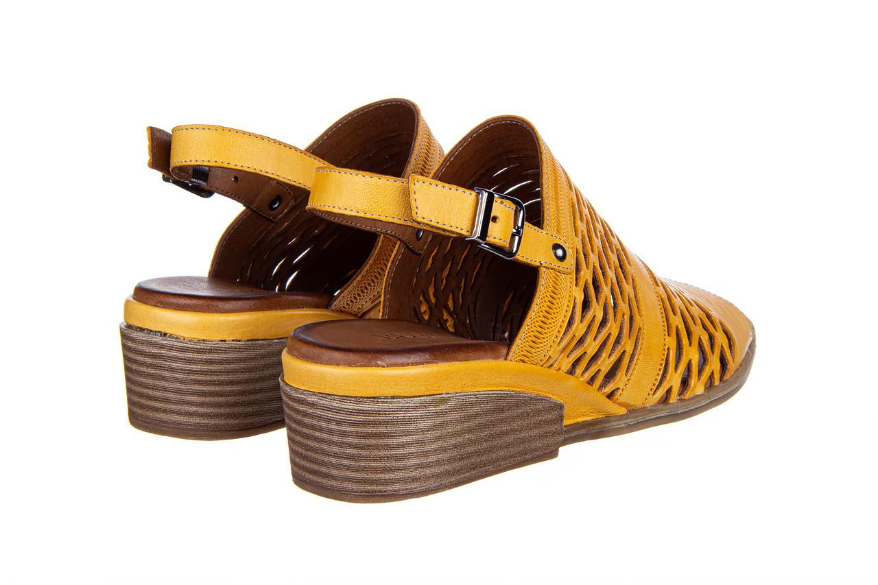 Sandały bayla-161 061 1600 noce 161200, żółty, skóra naturalna  - bayla - nasze marki 11