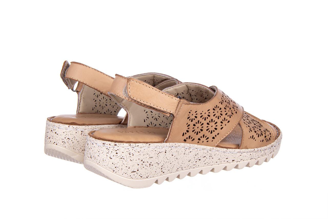 Sandały bayla-161 016 921 cappuccino 161192, brąz, skóra naturalna - sandały - buty damskie - kobieta 12