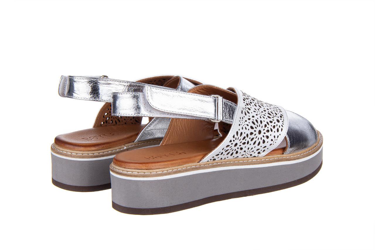 Sandały bayla-161 105 2014 white silver 161213, srebrny/ biały, skóra naturalna  - bayla - nasze marki 11