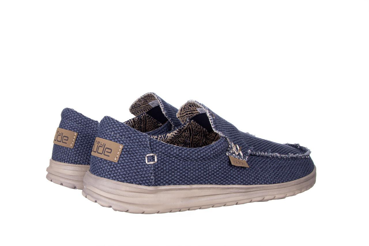 Półbuty heydude mikka braided deep blue 003196, granat, materiał - buty męskie - mężczyzna 11