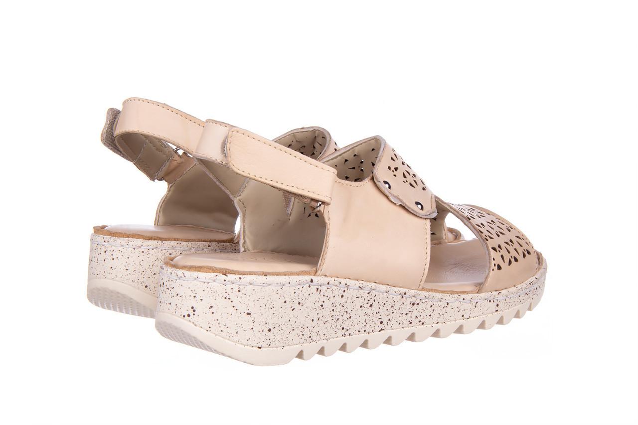 Sandały bayla-161 016 966 beige 161195, beż, skóra naturalna 12