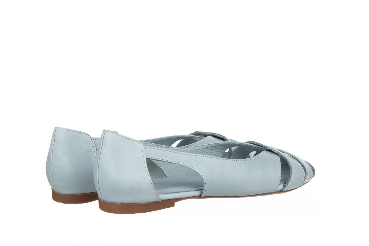Baleriny bayla-161 138 1560 fresh 161220, niebieski, skóra naturalna - skórzane - baleriny - buty damskie - kobieta 11
