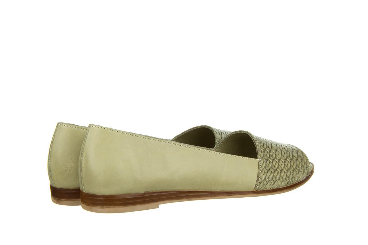 Baleriny bayla-161 138 80132 khaki 161227, zielony, skóra naturalna  - baleriny - dla niej  - sale 12