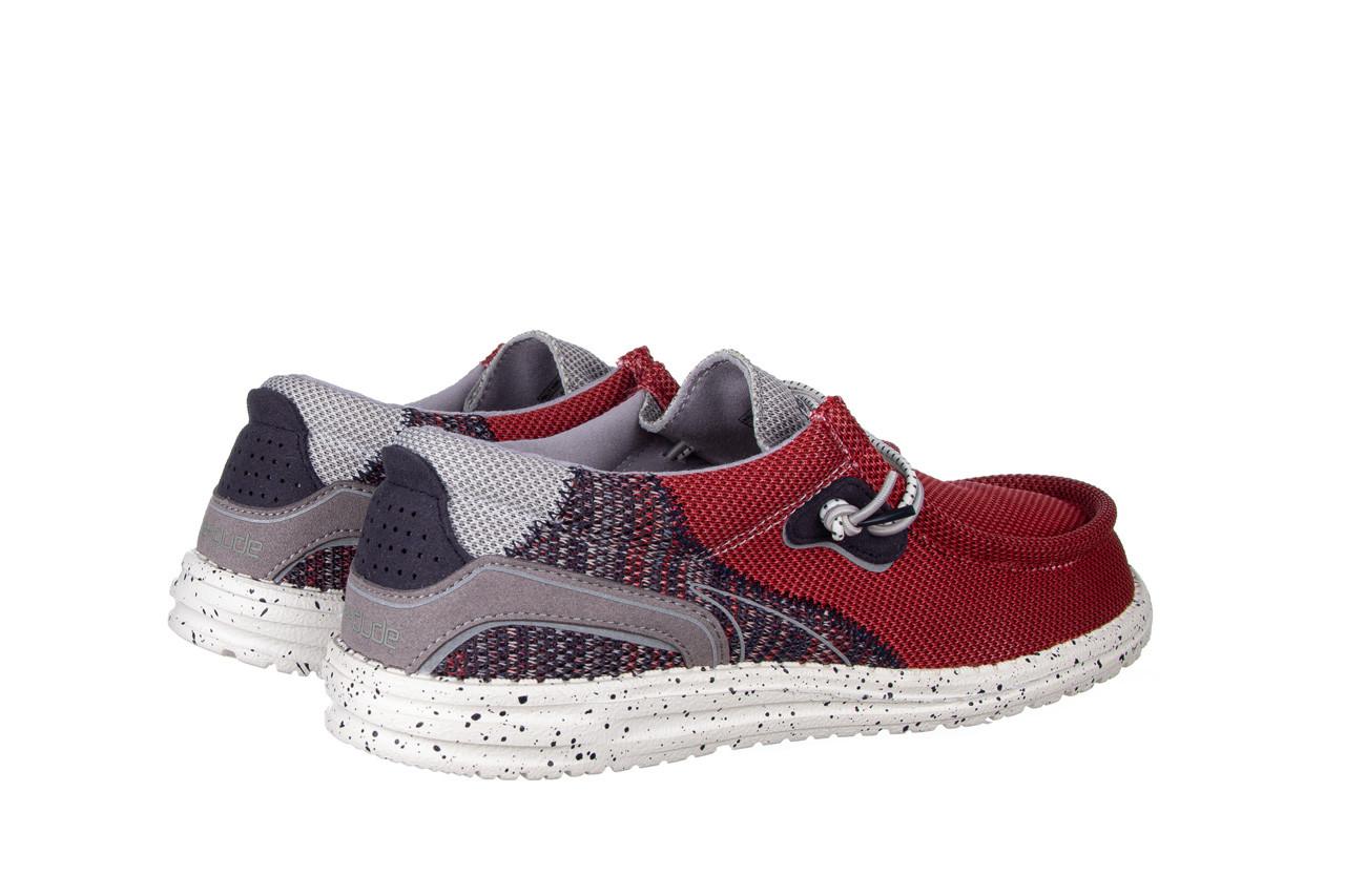 Półbuty heydude wally hawk lava grey 003200, czerwony, materiał - trendy - mężczyzna 11