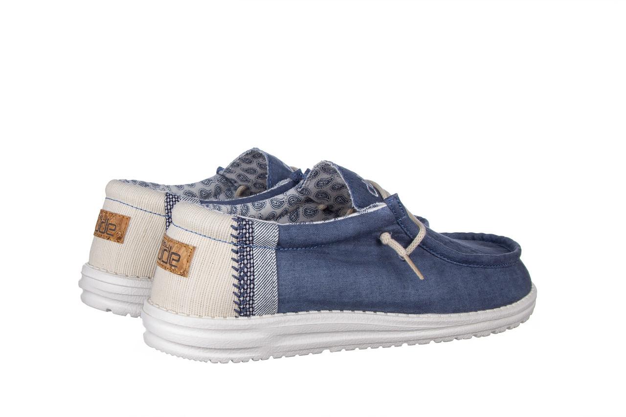 Półbuty heydude wally linen natural blue 003204, granat, materiał  - trendy - mężczyzna 11