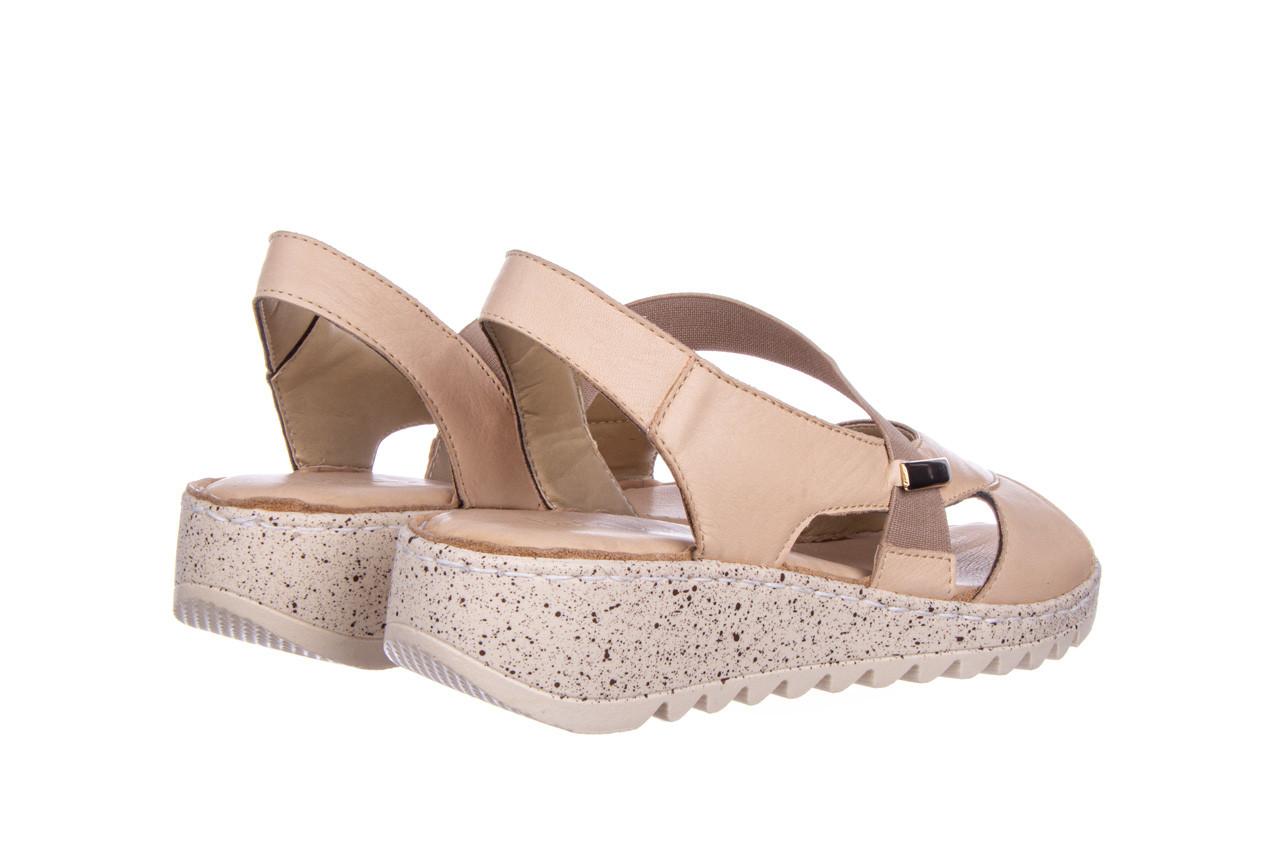 Sandały bayla-161 016 901 beige 161190, beż, skóra naturalna 11
