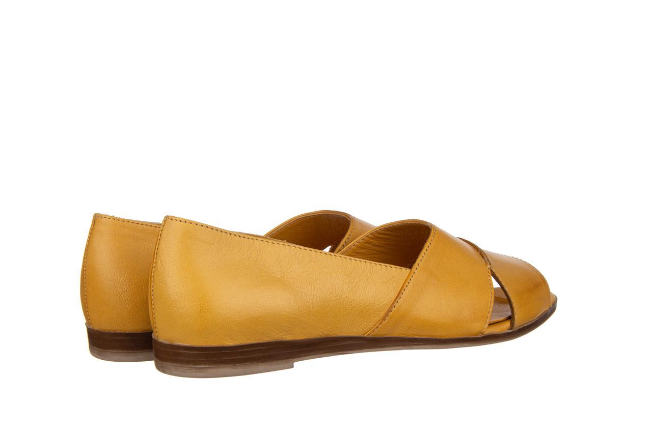 Baleriny bayla-161 138 80123 noce 161225, żółty, skóra naturalna  - skórzane - baleriny - buty damskie - kobieta 11