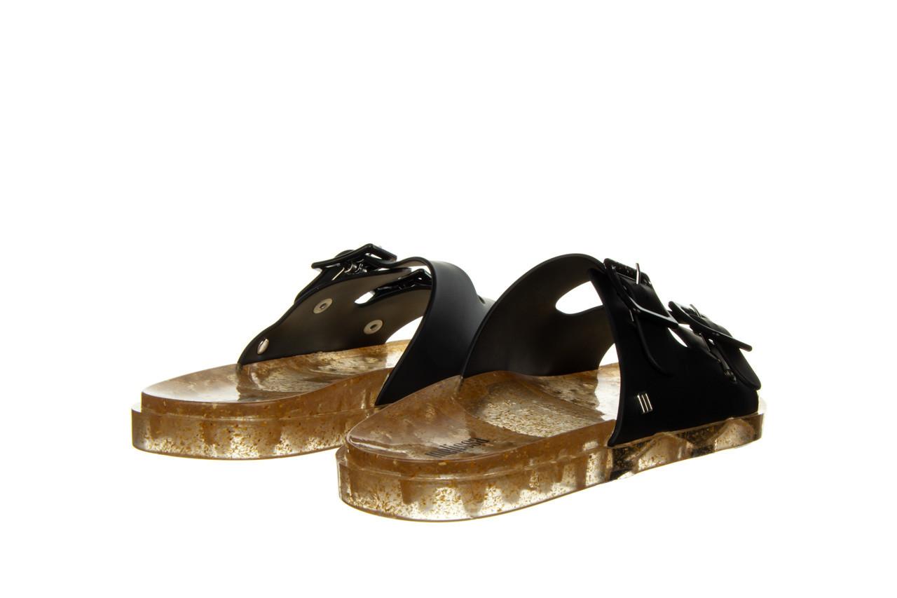 Klapki melissa wide ad black beige transparent 010357, czarny, guma - klapki - buty damskie - kobieta 10