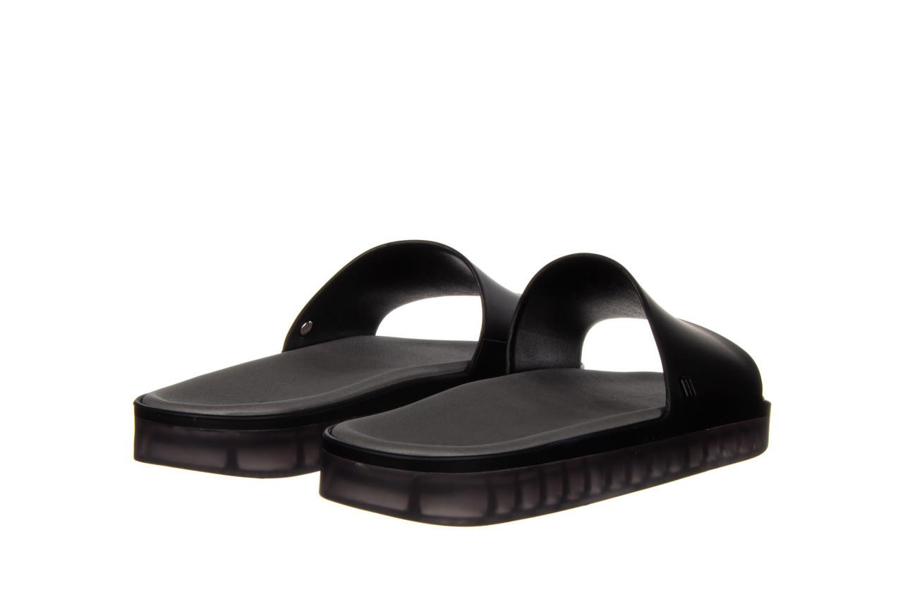 Klapki melissa beach slide next gen ad matte black smoke 010338, czarny, guma - klapki - buty damskie - kobieta 10