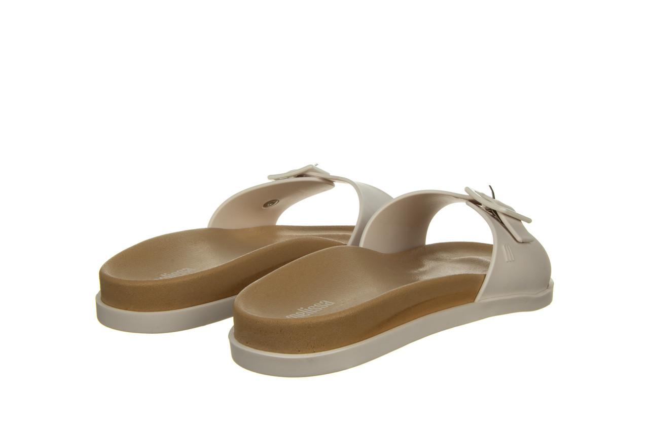Klapki melissa wide slide ad white beige 010367, biały, guma - nowości 9