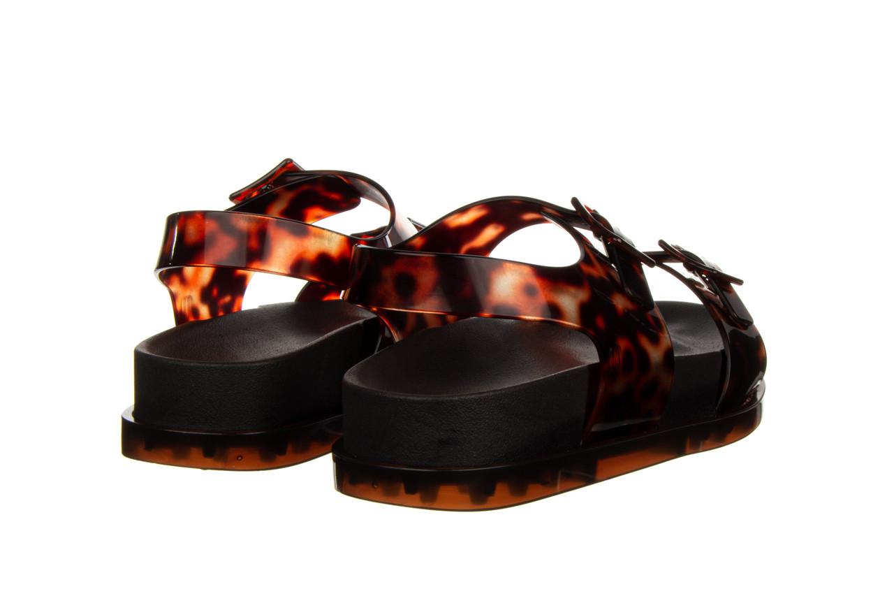 Sandały melissa wide platform ad black turtoise 010362, czarny/ brąz, guma - nowości 11