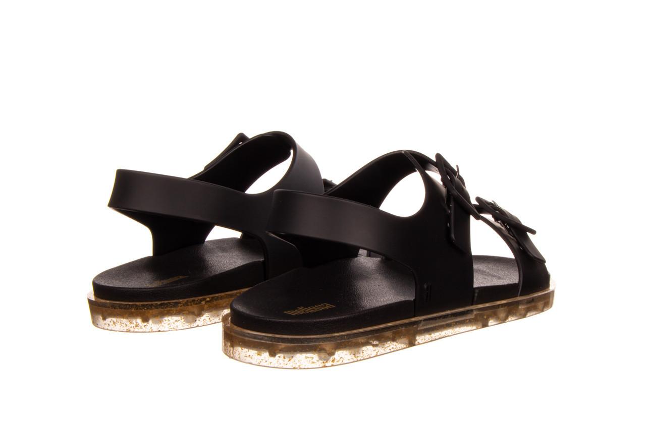 Sandały melissa wide sandal ad black rice husk 010358, czarny, guma - nowości 11