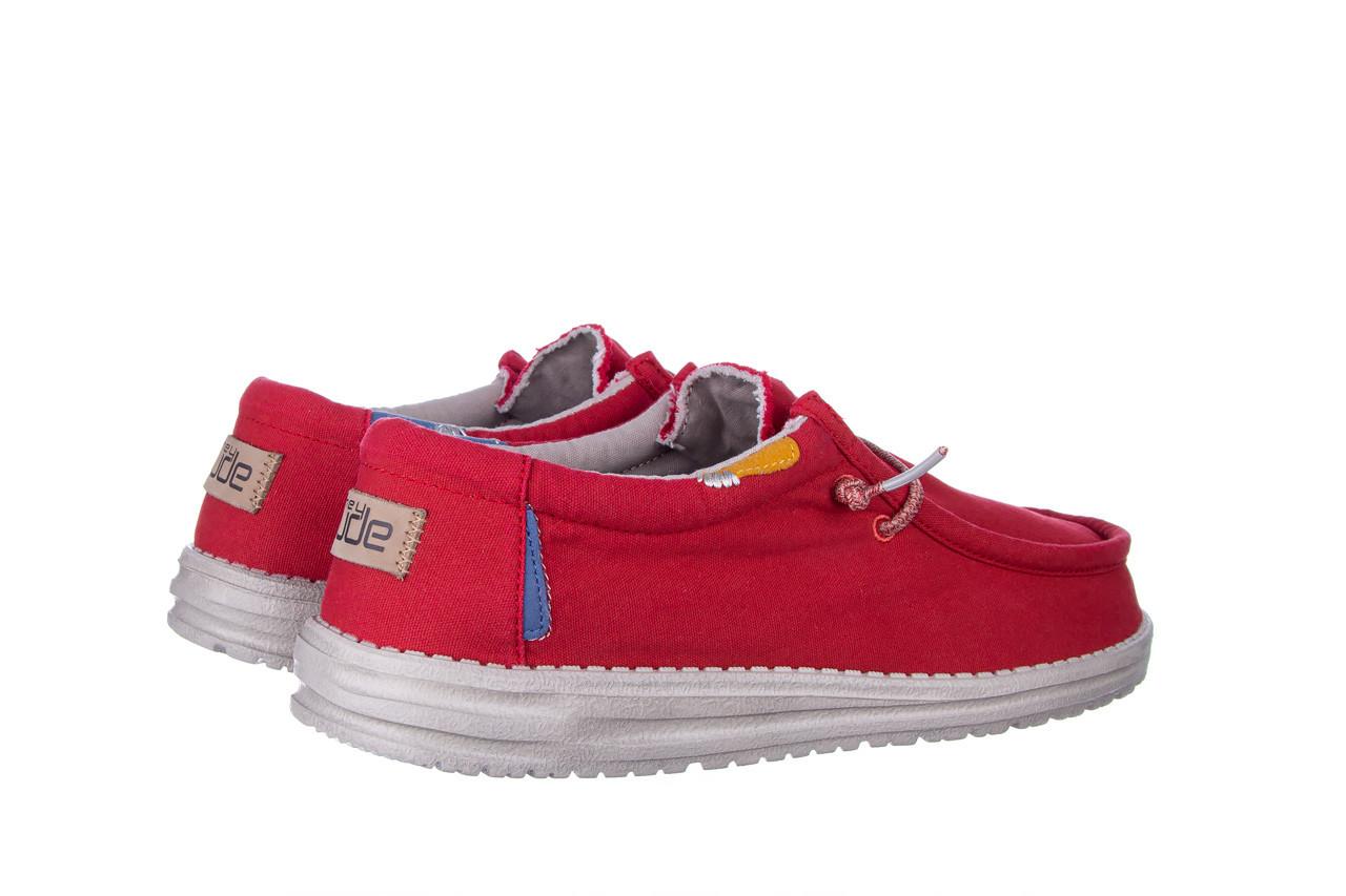 Półbuty heydude wally washed molten lava 003208, czerwony, materiał - trendy - mężczyzna 11