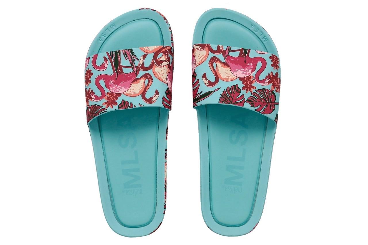 Klapki melissa beach slide 3db rainbow ad green pink, błękitne, guma - melissa - nasze marki 4