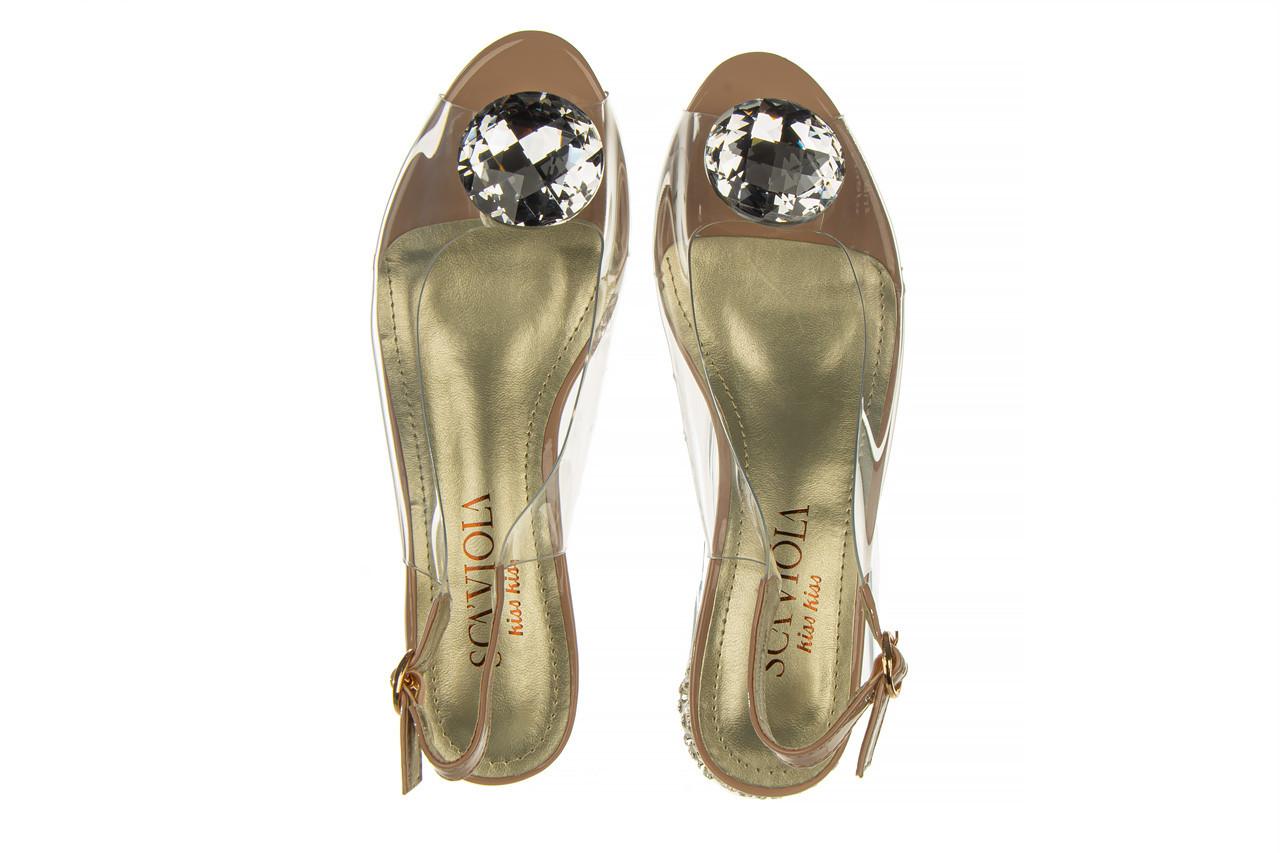 Sandały sca'viola g-15 l pink 21 047182, róż, silikon - na obcasie - sandały - buty damskie - kobieta 14