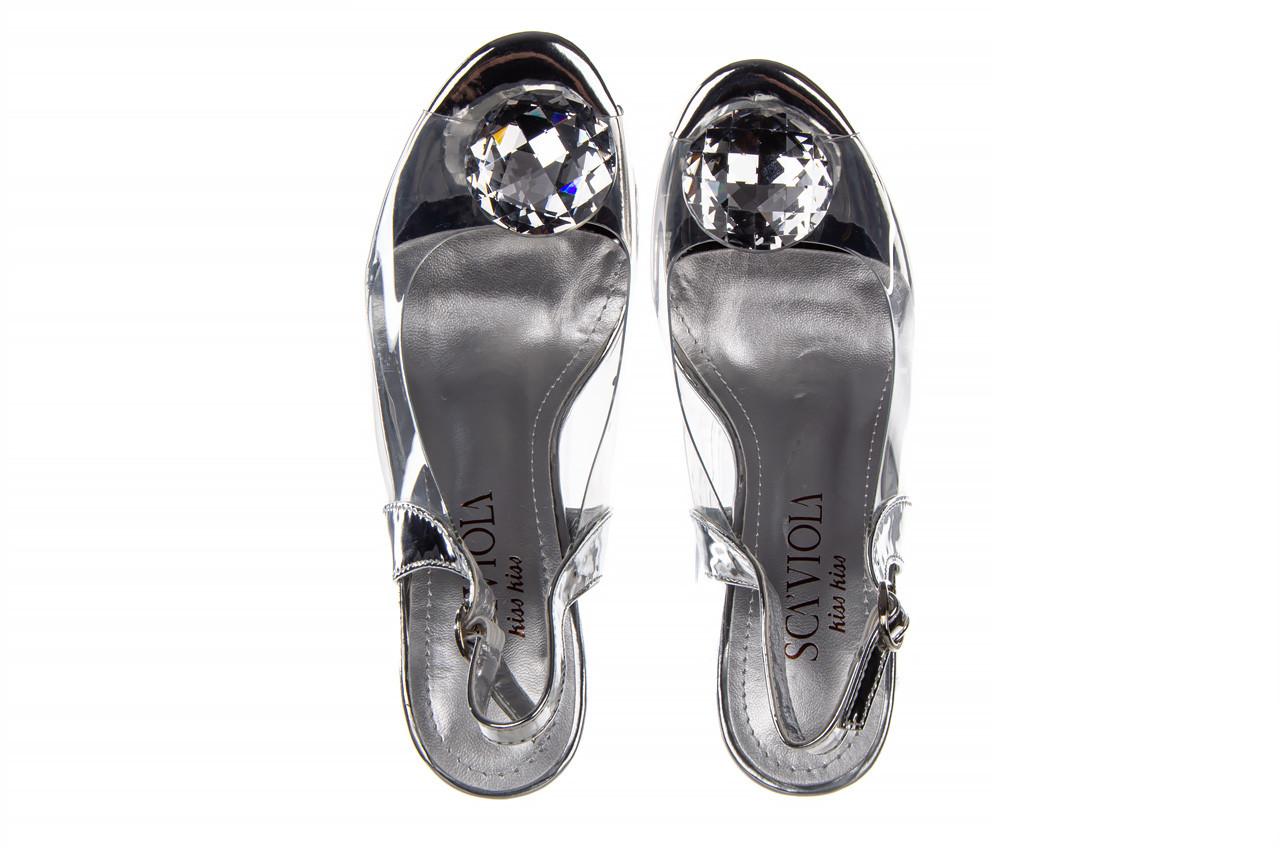 Sandały sca'viola g-17 silver 21 047186, srebro, silikon 12
