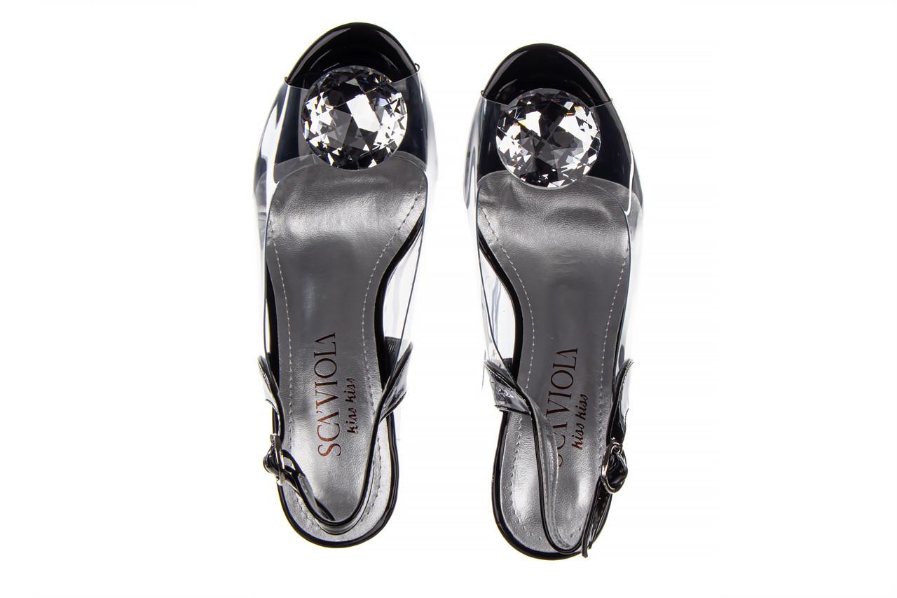 Sandały sca'viola g-17 black 21 047184, czarny, silikon  - na obcasie - sandały - buty damskie - kobieta 14