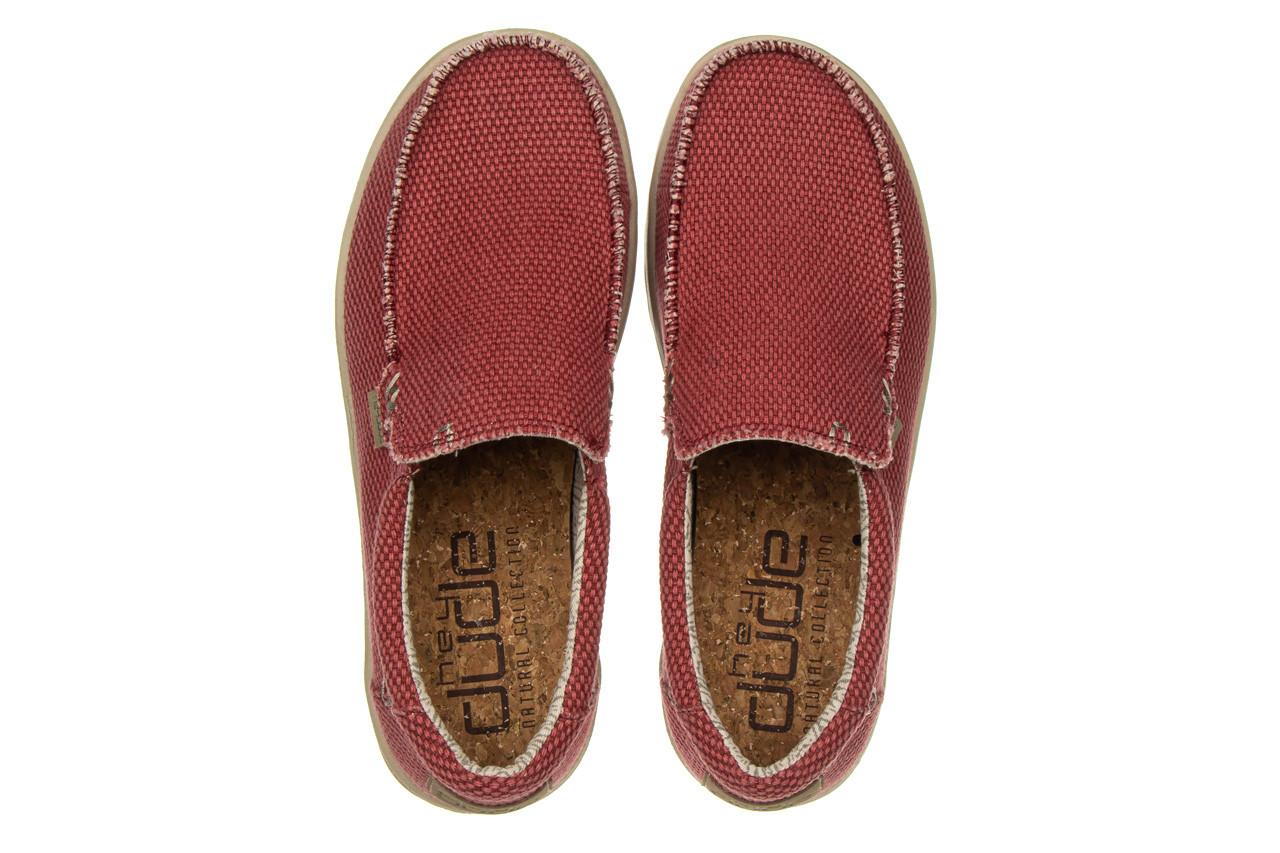 Półbuty heydude mikka braided pompeian red 003215, czerwony, materiał  - nowości 12