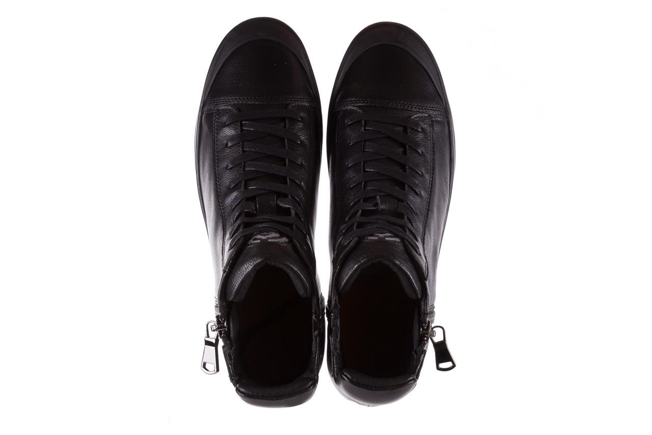 Sneakersy john doubare m5761-1 black, czarny , skóra naturalna  - trendy - mężczyzna 16