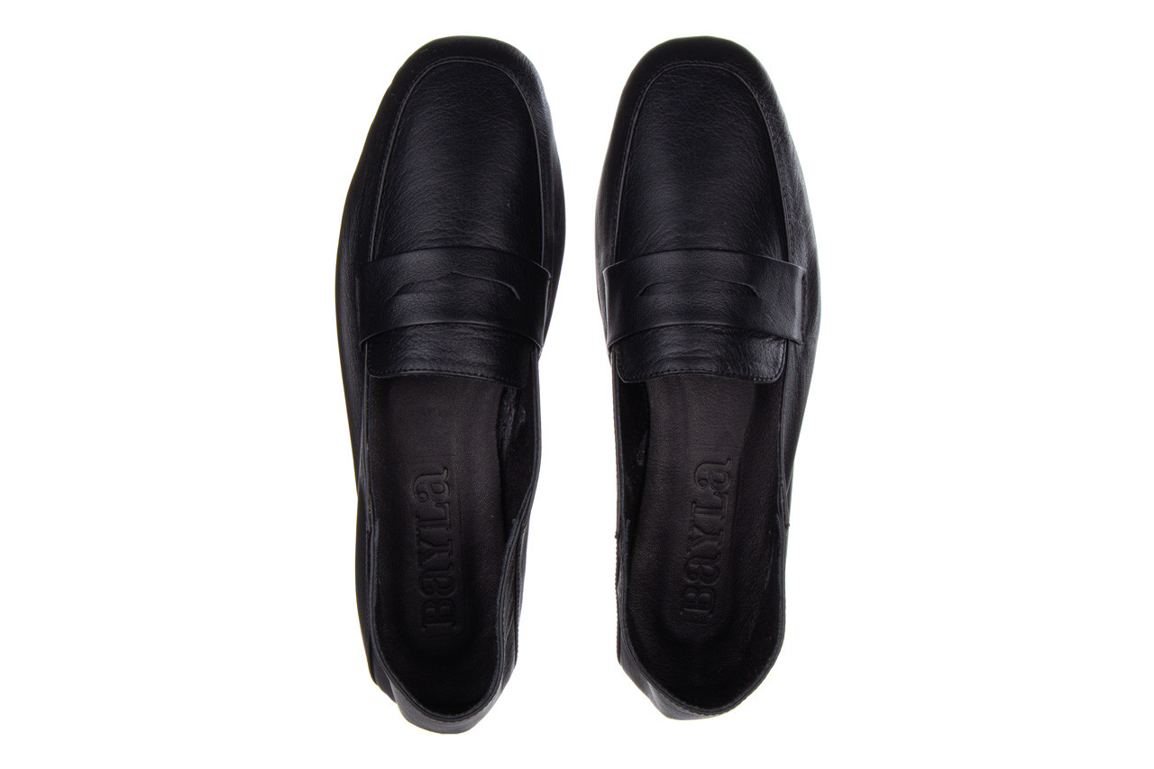 Półbuty bayla-161 138 4060 black 161222, czarny, skóra naturalna  - wsuwane - półbuty - buty damskie - kobieta 12