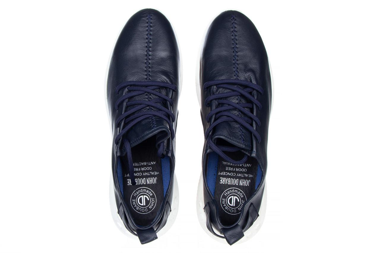 Trampki john doubare 198h-50-n454 blue 104168, granat, skóra naturalna - trampki - buty męskie - mężczyzna 13
