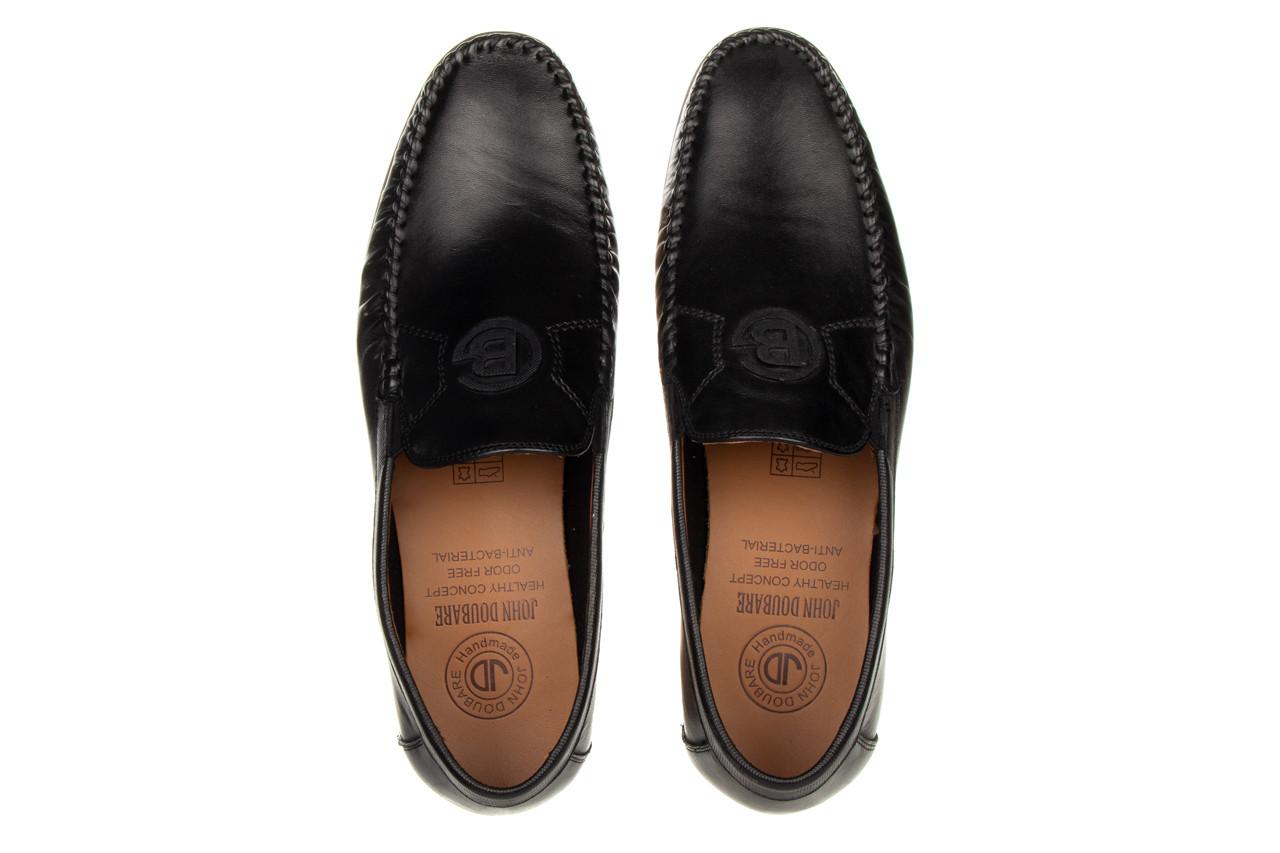 Mokasyny john doubare ygc-z2154-301-10 black 104174, czarny, skóra naturalna  - mokasyny i espadryle - buty męskie - mężczyzna 14