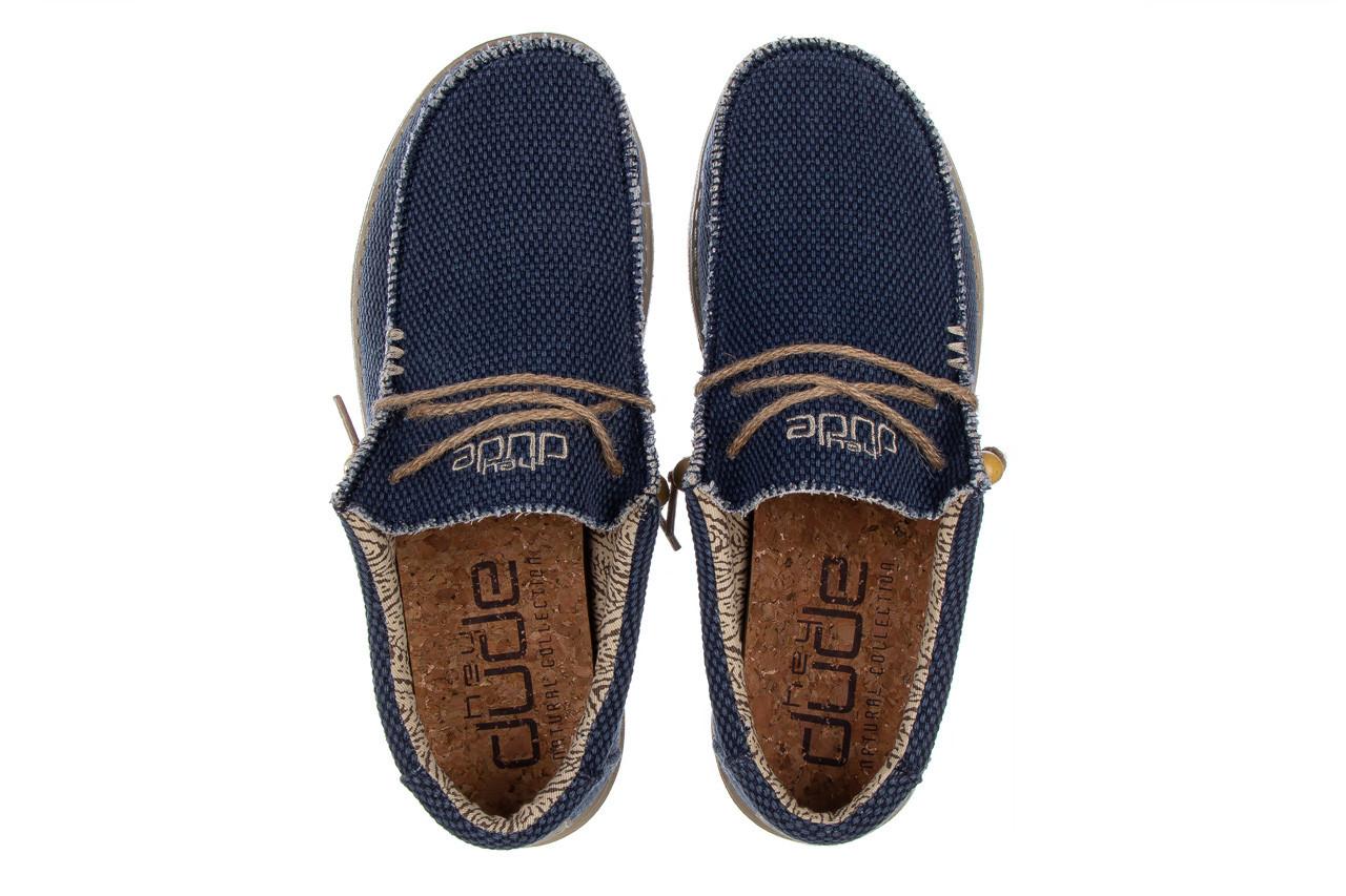 Półbuty heydude wally braided blue night 003197, granat, materiał  - trendy - mężczyzna 12