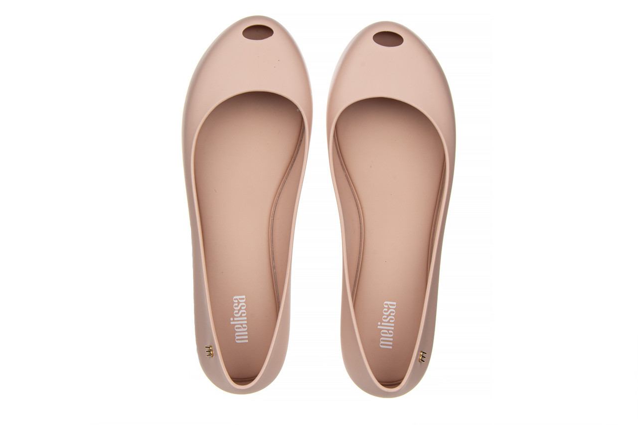Baleriny melissa ultragirl basic ad light pink 21 010373, róż, guma  - gumowe - baleriny - buty damskie - kobieta 12