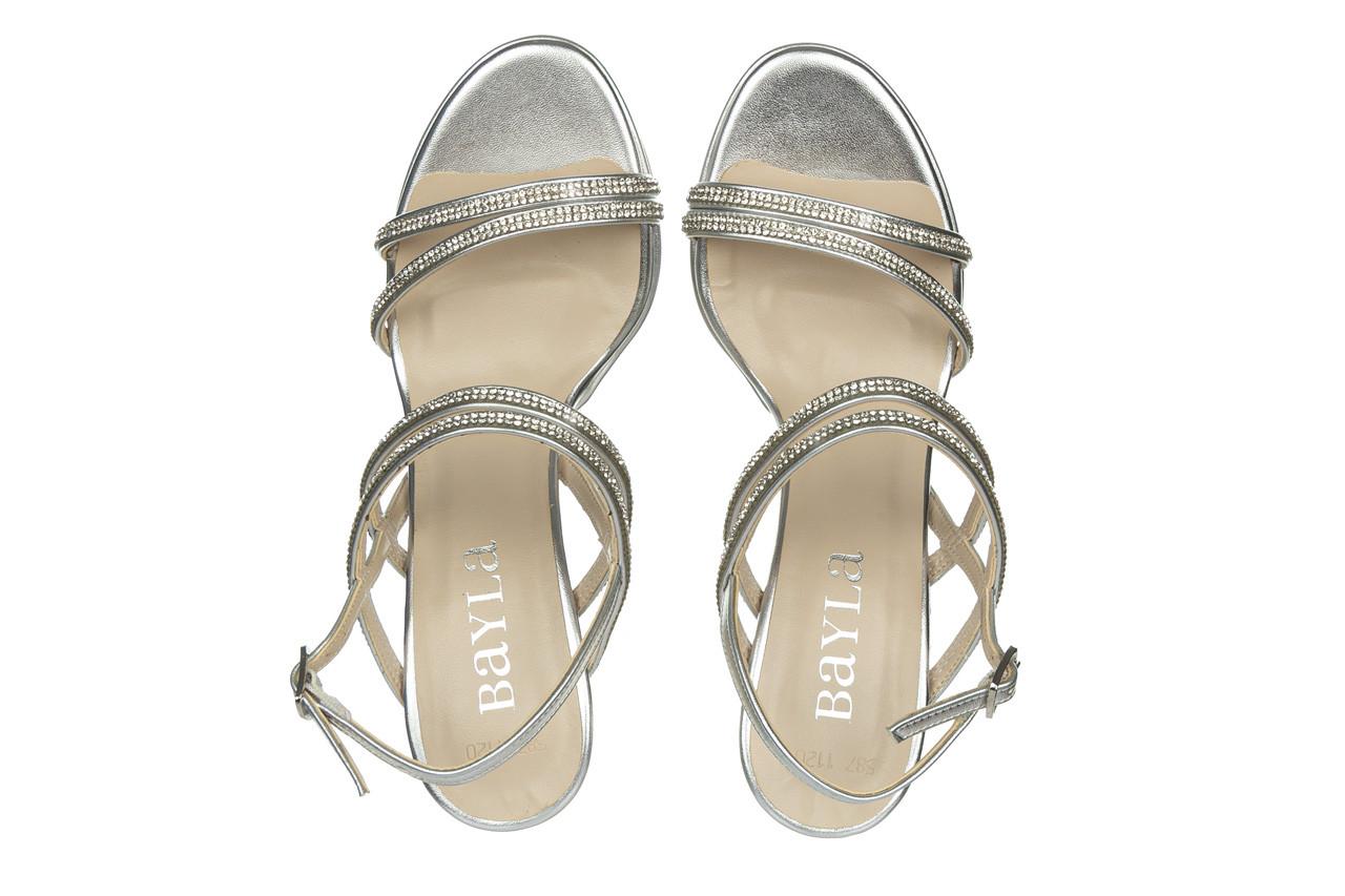 Sandały bayla-187 587-1120 silver 187016, srebro, skóra ekologiczna  - sandały - buty damskie - kobieta 11