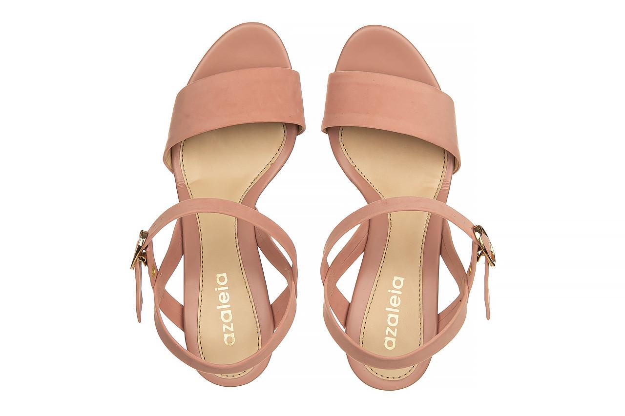 Sandały azaleia 680 242 suede old pink, róż, materiał  - koturny - buty damskie - kobieta 11