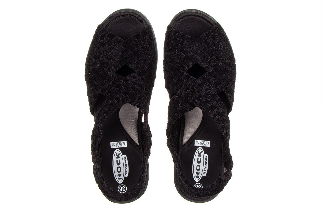 Sandały rock minily black cashmere 032847, czarny, materiał  - rock - nasze marki 11