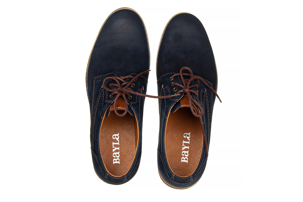 Półbuty bayla-081 831 juma blue ax, granat, skóra naturalna  - wizytowe - półbuty - buty męskie - mężczyzna 12