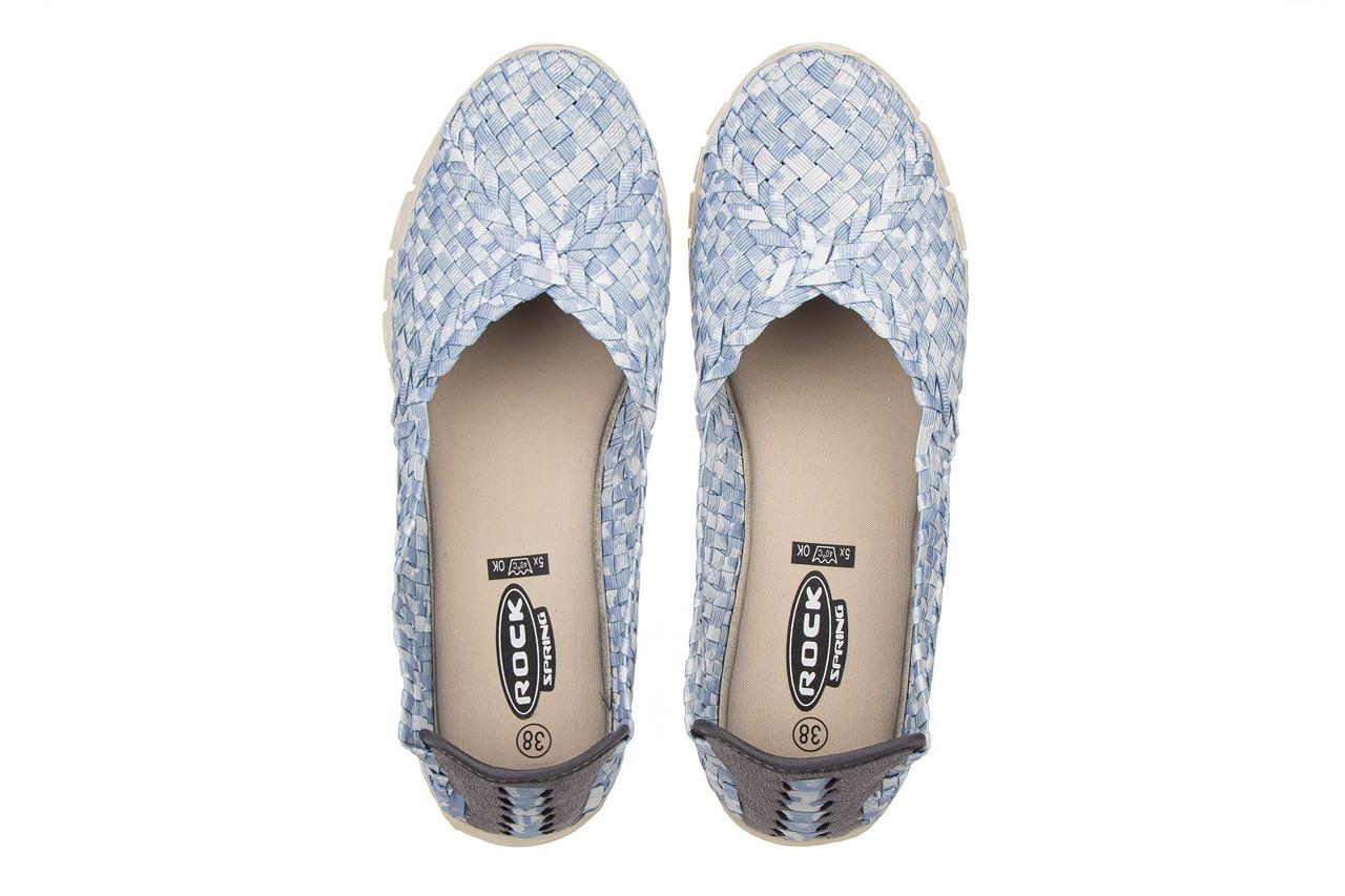 Półbuty rock carioca perena blue smoke 032826, niebieski/ biały, materiał - wsuwane - półbuty - buty damskie - kobieta 12