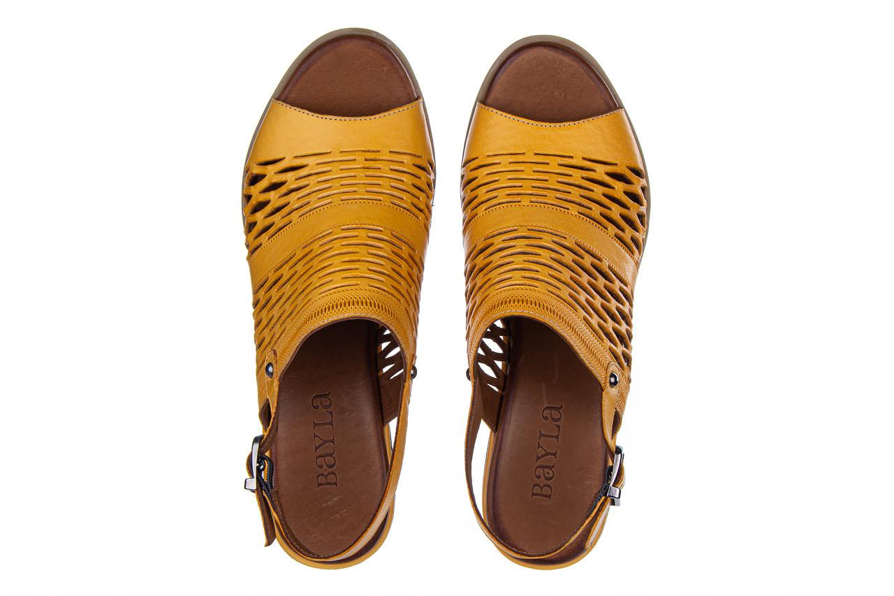 Sandały bayla-161 061 1600 noce 161200, żółty, skóra naturalna  - bayla - nasze marki 12