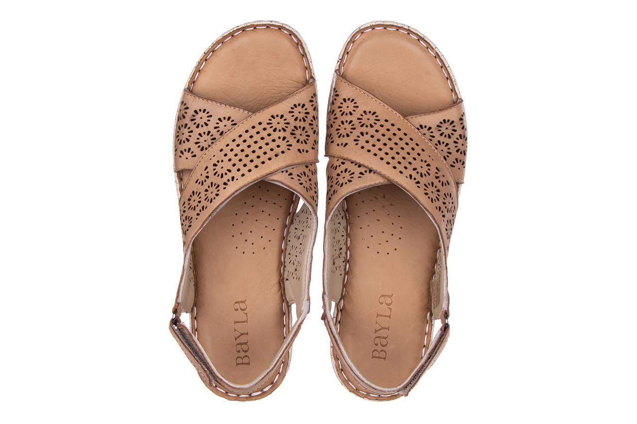 Sandały bayla-161 016 921 cappuccino 161192, brąz, skóra naturalna - sandały - buty damskie - kobieta 13