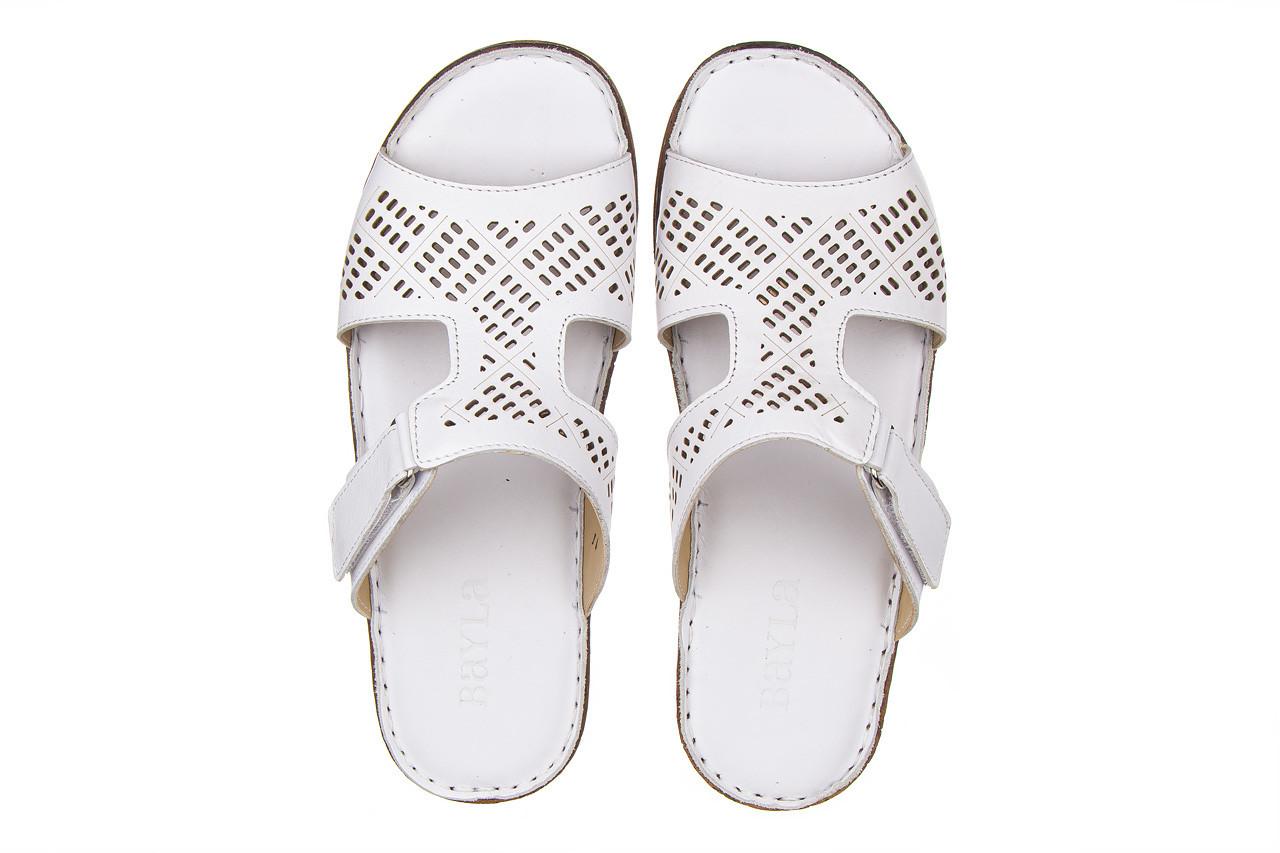 Klapki bayla-161 016 460 white 161189, biały, skóra naturalna  - bayla - nasze marki 12